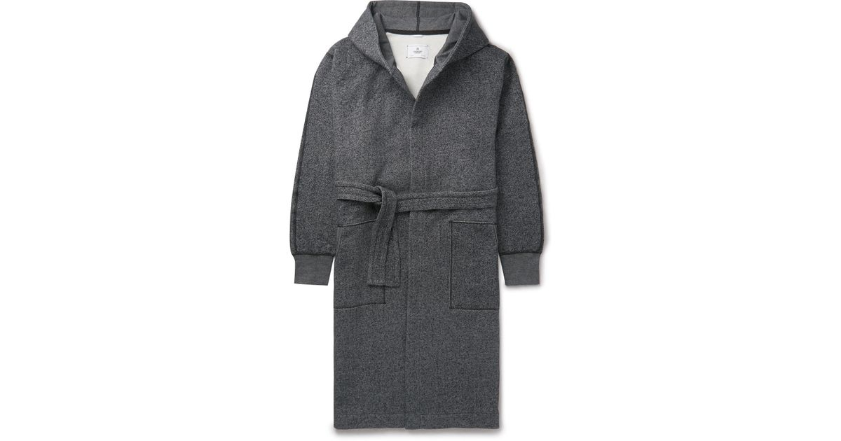 5e9f338d73 Lyst - Reigning Champ Fleece-back Cotton-jersey Hooded Robe in Gray for Men