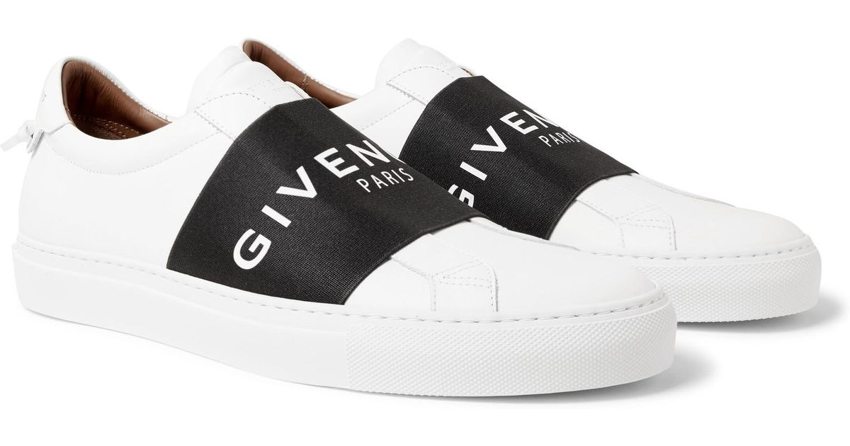 Discount Latest Collections Sale The Cheapest Urban Street Logo-print Leather Slip-on Sneakers Givenchy Sale Websites lNJtp