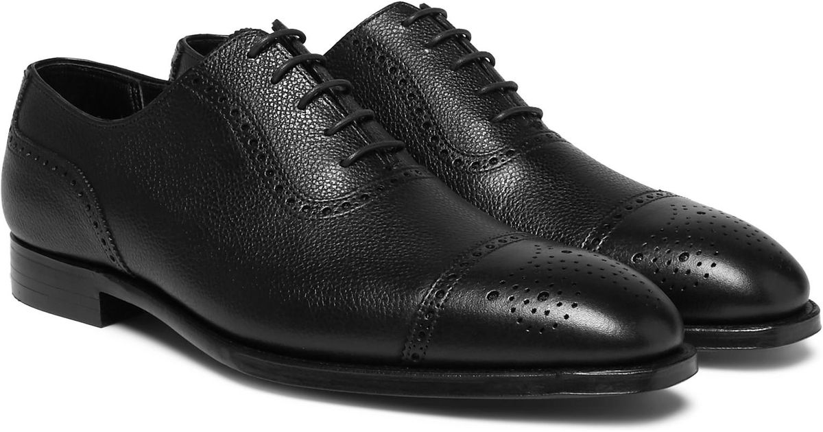 Adam Pebble-grain Leather Oxford Brogues George Cleverley