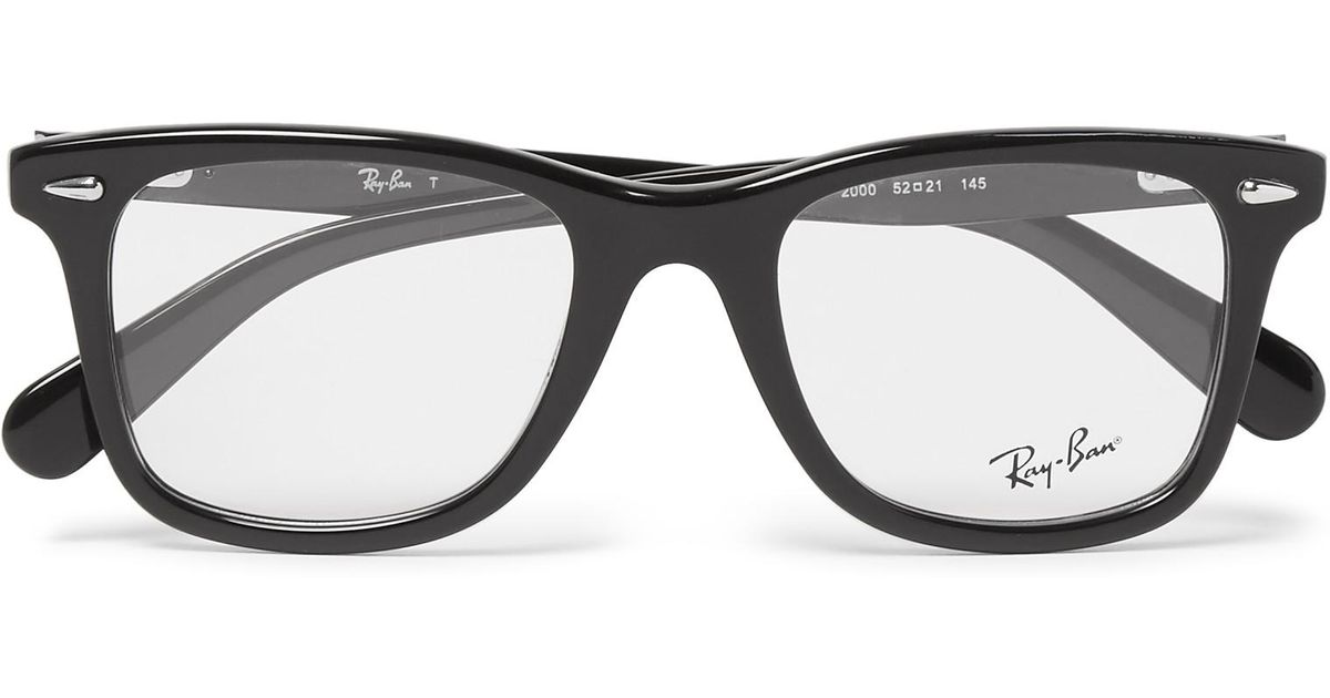4f614cb83e Lyst - Ray-Ban D-frame Acetate Optical Glasses in Black for Men