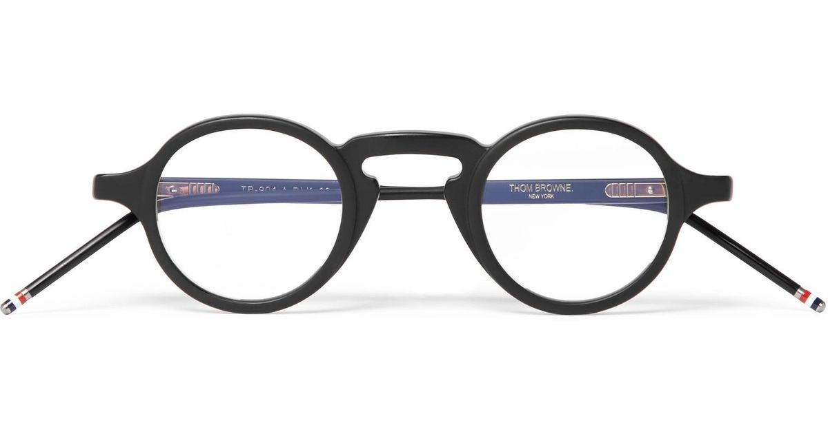 f6720953499a Lyst - Thom Browne Round-frame Matte-acetate Optical Glasses for Men