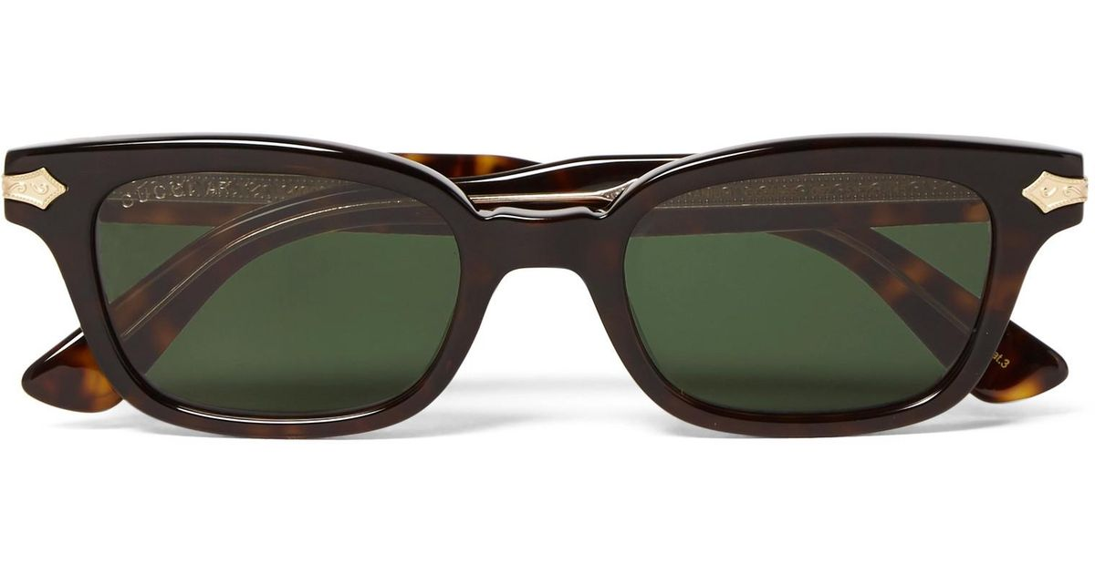 8262ab4581872 Gucci Square-frame Tortoiseshell Acetate And Gold-tone Sunglasses in Brown  for Men - Lyst