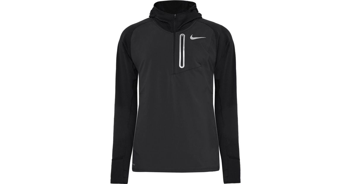 c16f18cd Nike Therma Sphere Element Hybrid Dri-fit Half-zip Hoodie in Black for Men  - Lyst