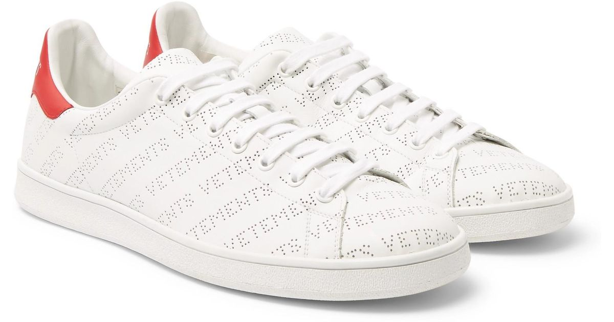 af043a18b20 Lyst - Vetements Perforated-logo Leather Sneakers in White for Men
