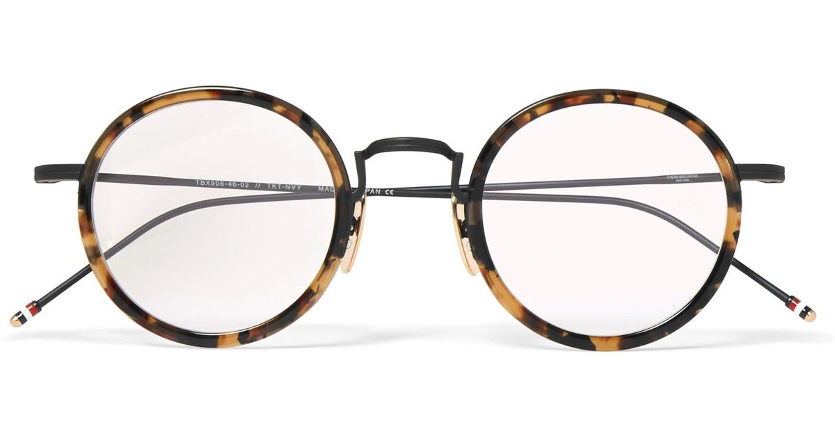 857f98f938 Lyst - Thom Browne Round-frame Tortoiseshell Acetate Optical Glasses in  Brown for Men