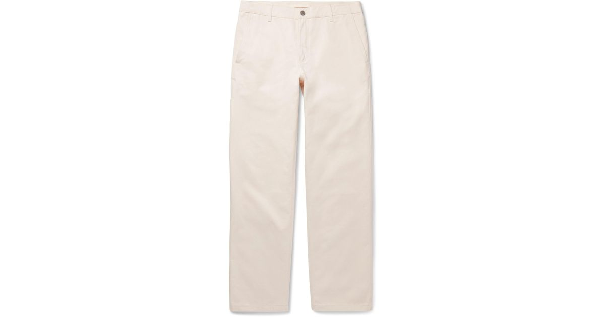 ee393996e8e Norse Projects Josef Organic Cotton-twill Trousers in Natural for Men - Lyst