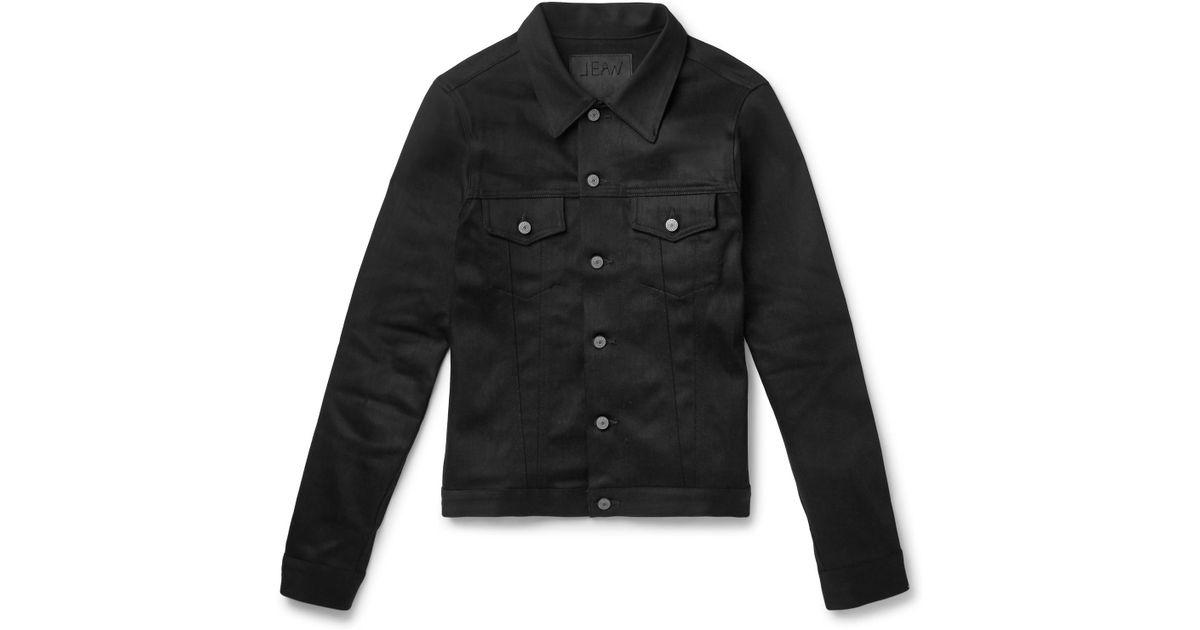 Trucker Slim Lyst Denim Fit Lou Shop In Men Jacket For Black Stretch Jean qRwZR04x