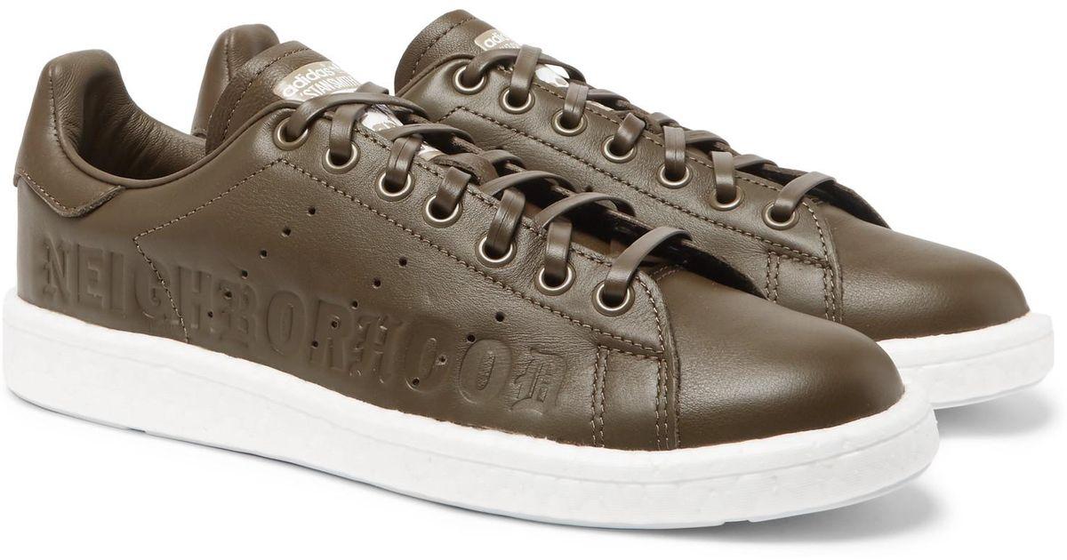 0421ac313aa0 Lyst - adidas Originals + Neighborhood Stan Smith Leather Sneakers for Men