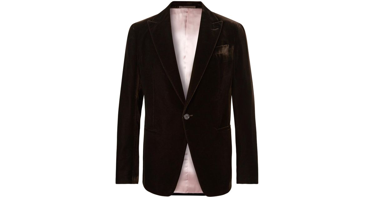 488c1ebd467 Berluti Dark-brown Velvet Tuxedo Jacket in Brown for Men - Lyst
