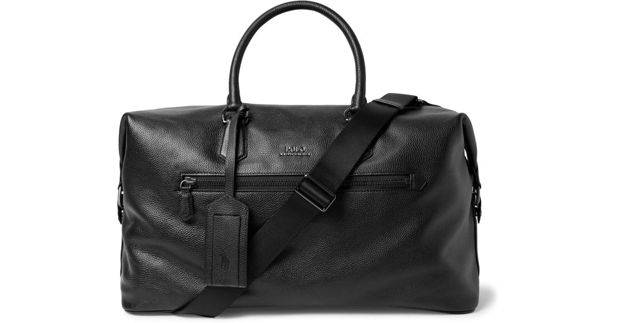 Polo Ralph Lauren Pebble-grain Leather Holdall in Black for Men - Lyst f107ed3462cf9