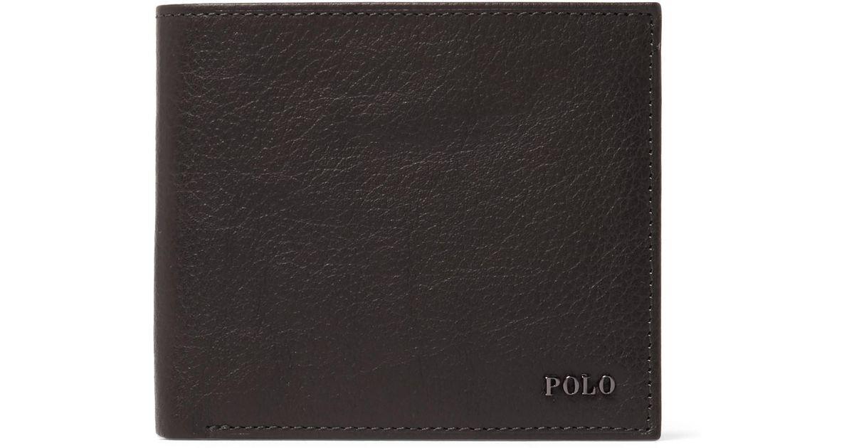 9a0358dc98e7 Lyst - Polo Ralph Lauren Full-grain Leather Billfold Wallet in Brown for Men