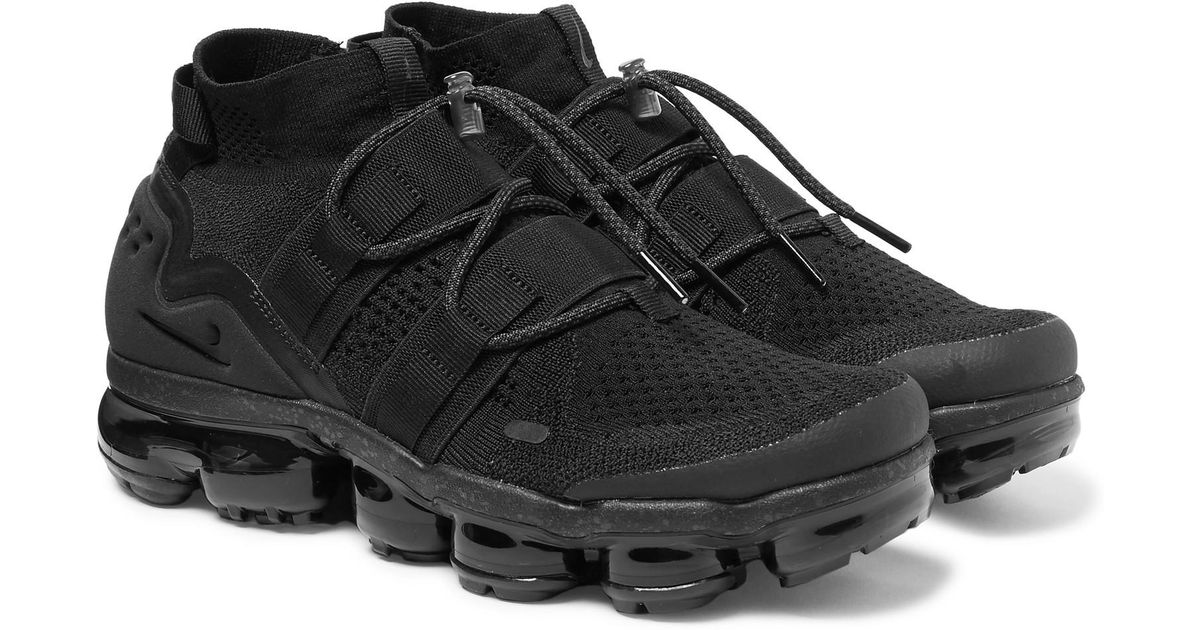 de4f6fd9a5ce Lyst - Nike Vapormax Flyknit Utility Sneakers in Black for Men