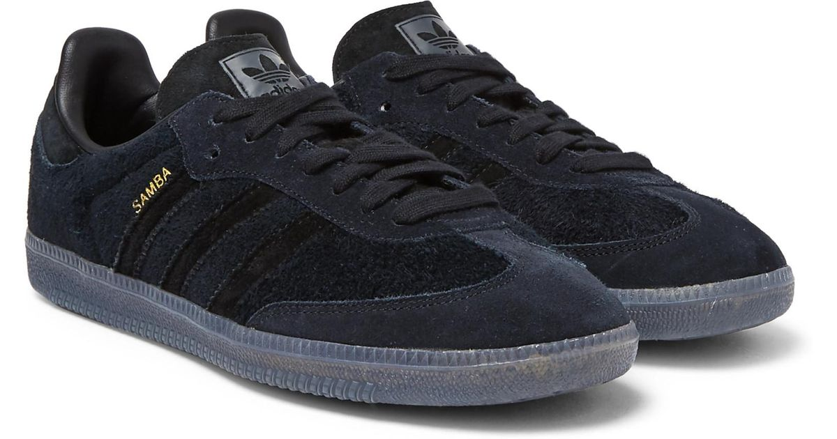 adidas Originals Samba Suede Sneakers in Black for Men - Lyst a867fceb9d61