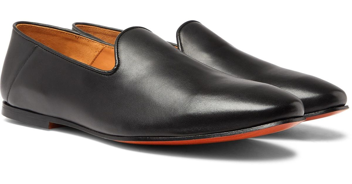 c724c5a1e officine-generale-black-Collapsible-heel-Leather-Slippers.jpeg