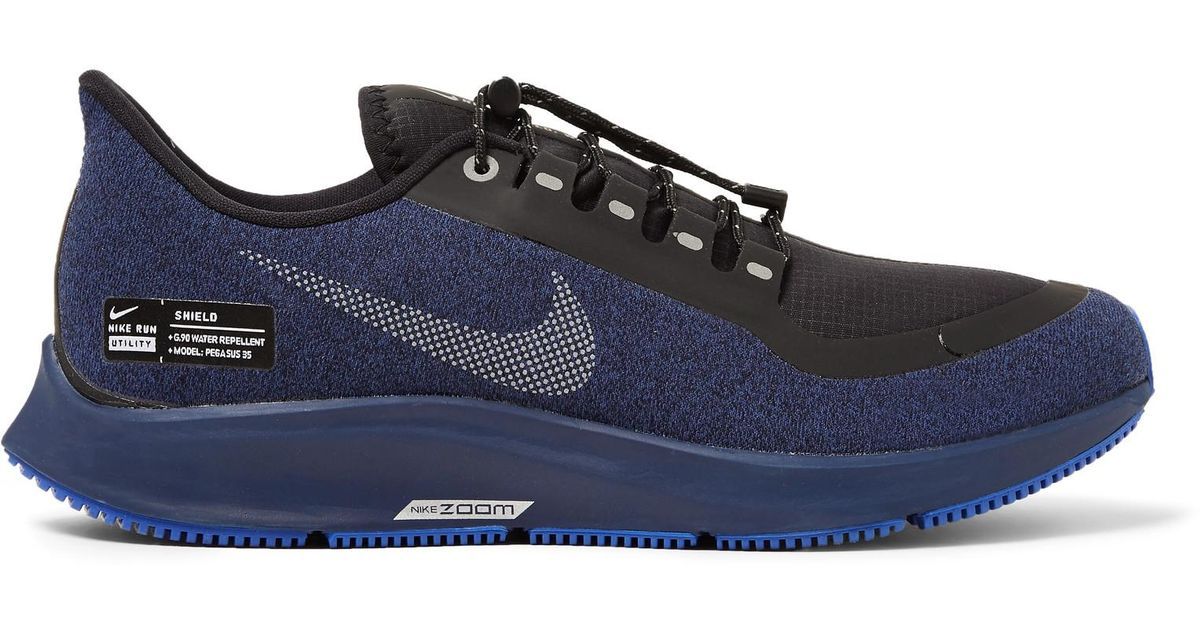 a6f7e32d1cb28 Lyst - Nike Air Zoom Pegasus 35 Shield Water-repellent Sneakers in Blue for  Men