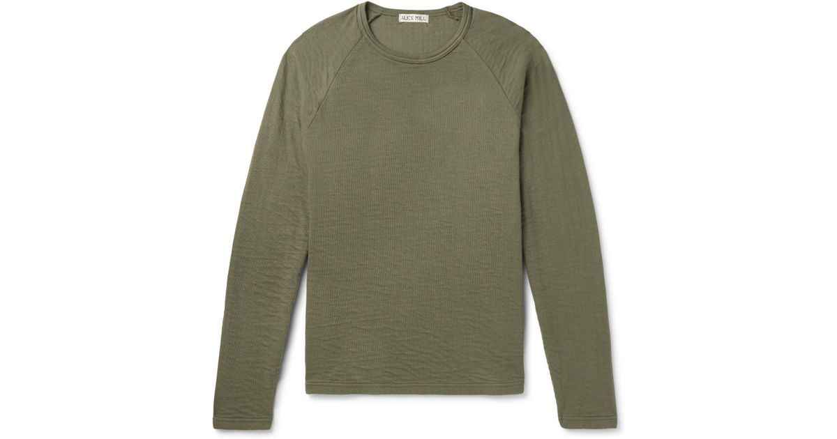 32807591d6b Alex Mill Double-faced Cotton T-shirt in Green for Men - Lyst