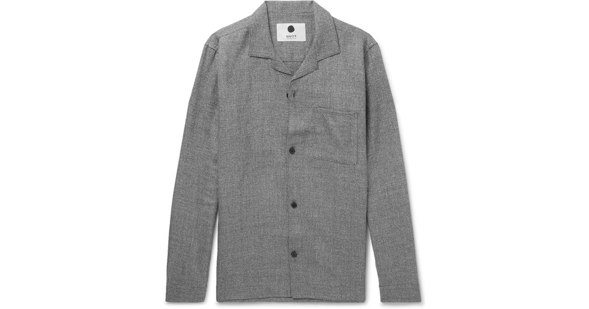 Jannic 1299 Camp-collar Wool And Linen-blend Overshirt Nn.07 Cheap Sale Clearance Store Original Cheap Price Popular Online Cheap Sale Collections Free Shipping Best Place y3DNVUxma