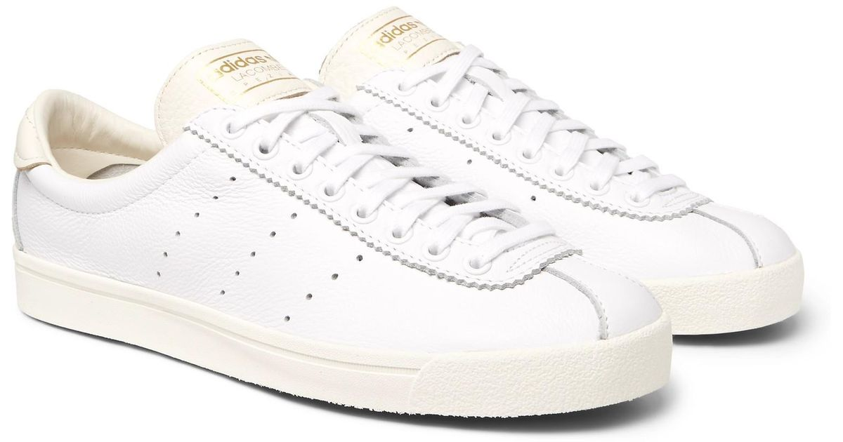 sports shoes faf6f deaed adidas Originals Lacombe Spzl Leather Sneakers in White for