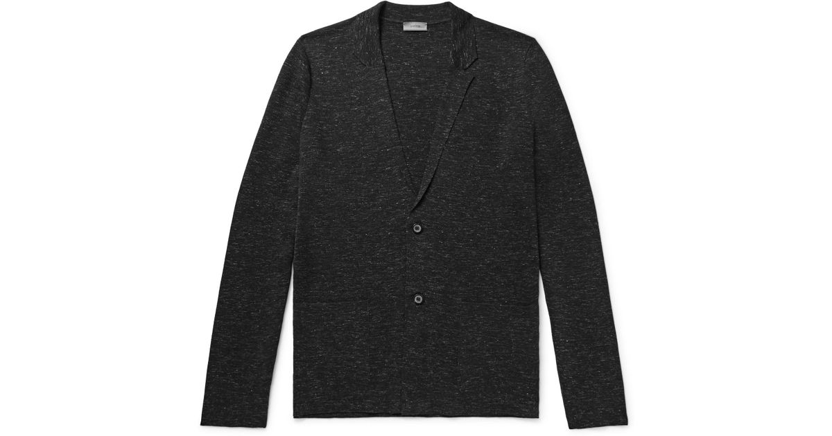 Mélange Wool, Silk And Linen-blend Cardigan Lanvin