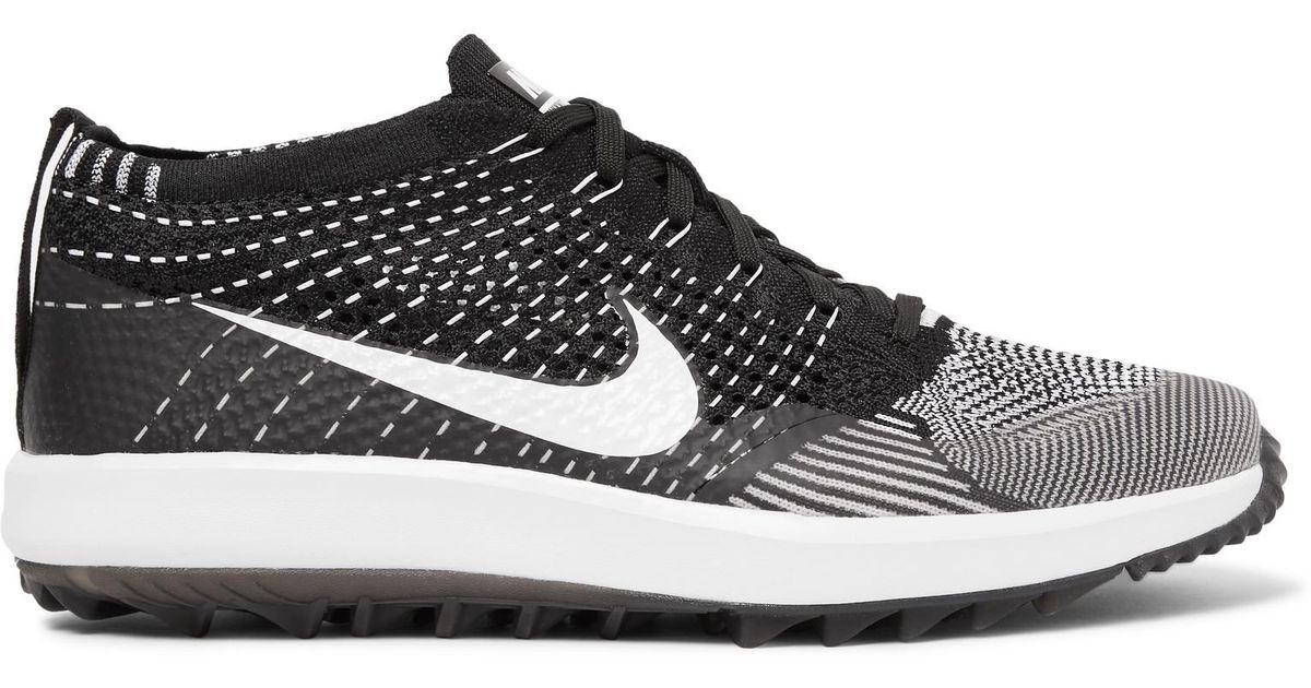 82b32ac2d90f Lyst - Nike Flyknit Racer Golf Shoes in Black for Men