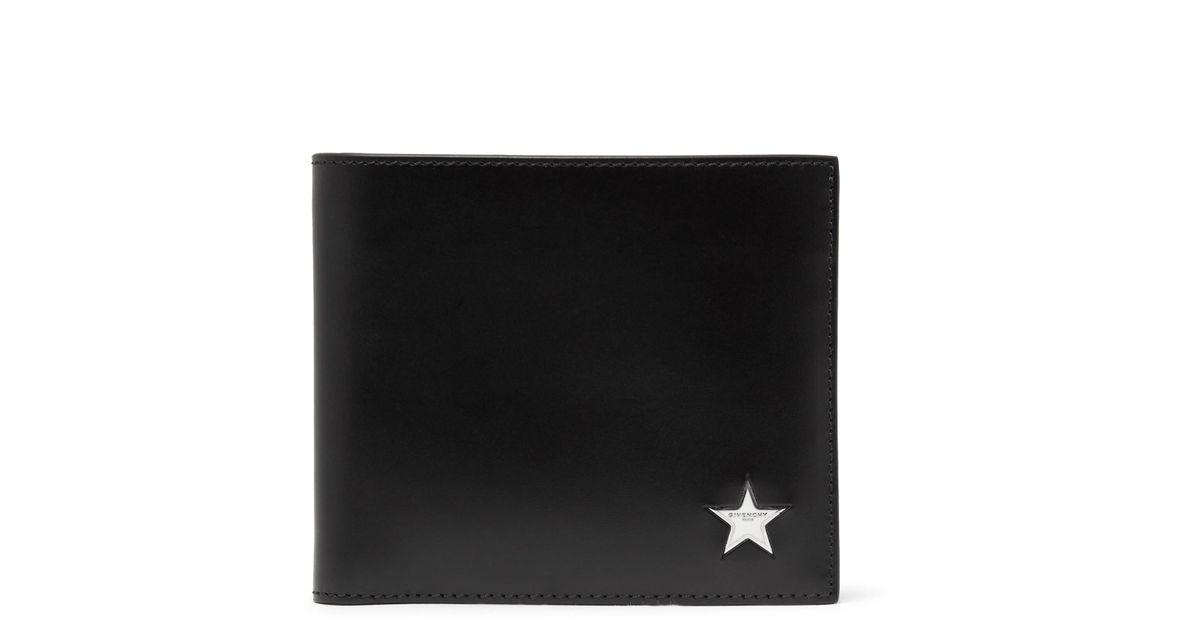 d4b465fedb Lyst - Givenchy Star-embellished Leather Billfold Wallet in Black for Men