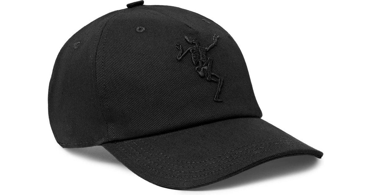 eed1e86e513cc2 Lyst - Alexander McQueen Embroidered Stretch-cotton Twill Baseball Cap in  Black for Men