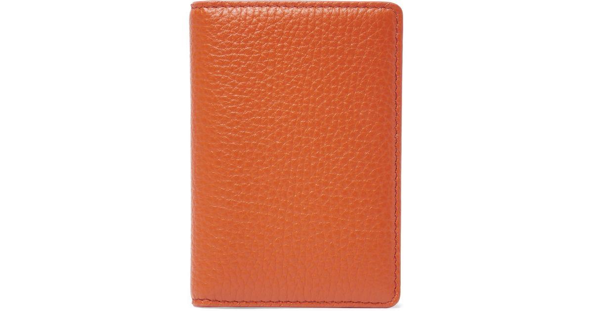03d04c0d27 Maison Margiela - Orange Full-grain Leather Bifold Cardholder for Men - Lyst