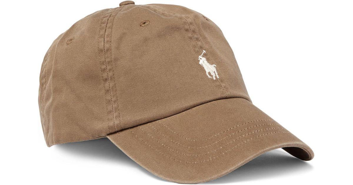 Lyst - Polo Ralph Lauren Cotton-twill Baseball Cap in Brown for Men 4a2f35a7848