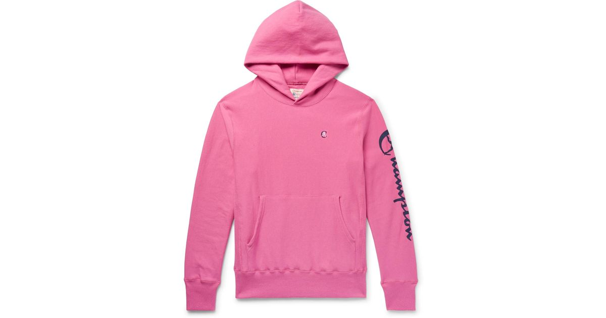 ad45e8651052 todd-snyder-pink-Logo-print-Loopback-Cotton-Jersey-Hoodie.jpeg