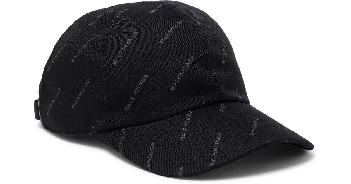 ddb830d1c9f Lyst - Balenciaga Printed Twill Baseball Cap in Black for Men