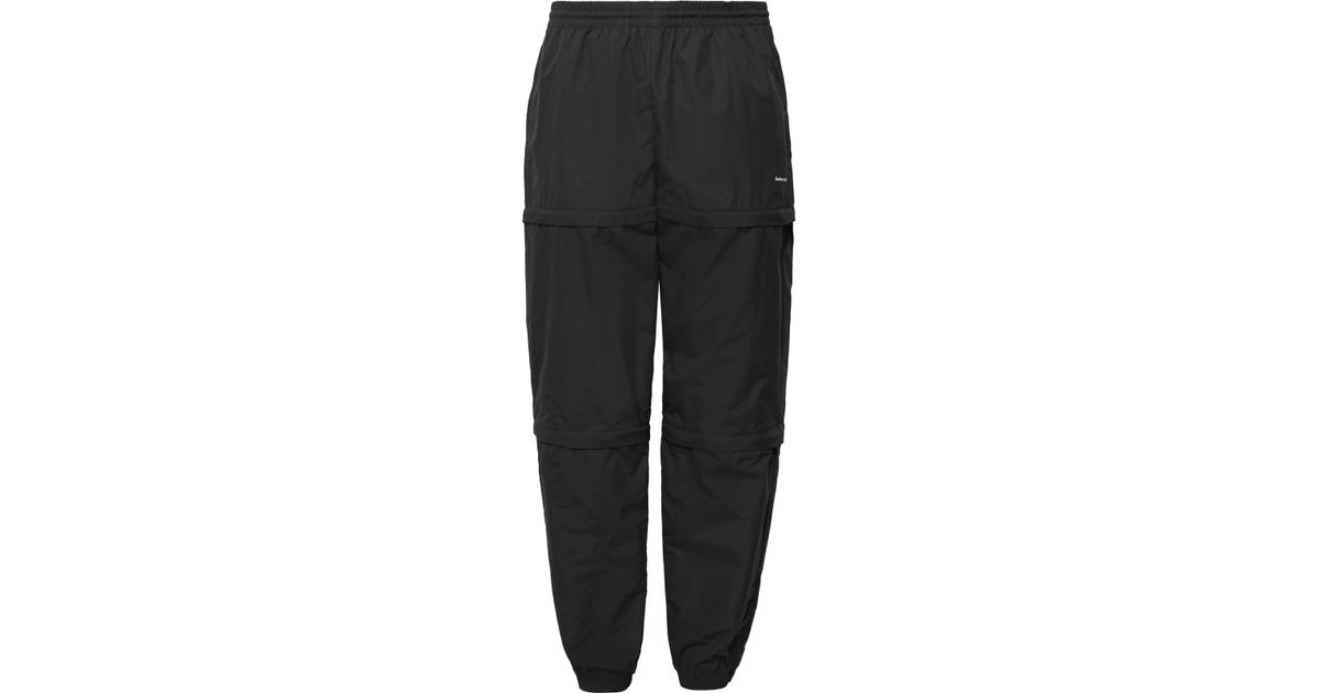 58ece9a2bca4 Balenciaga - Black Tapered Zip-panelled Shell Trousers for Men - Lyst