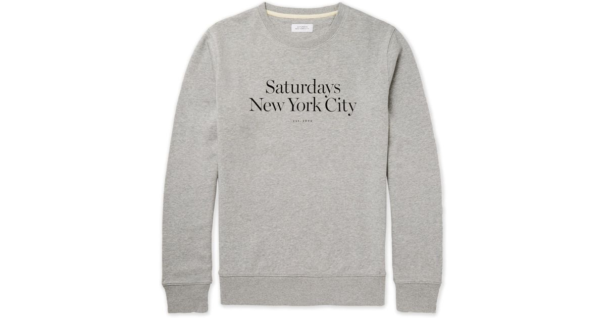 Saturdays NYC Bowery Logo-print Loopback Cotton-jersey Sweatshirt - Black 0Fi55hgNm7
