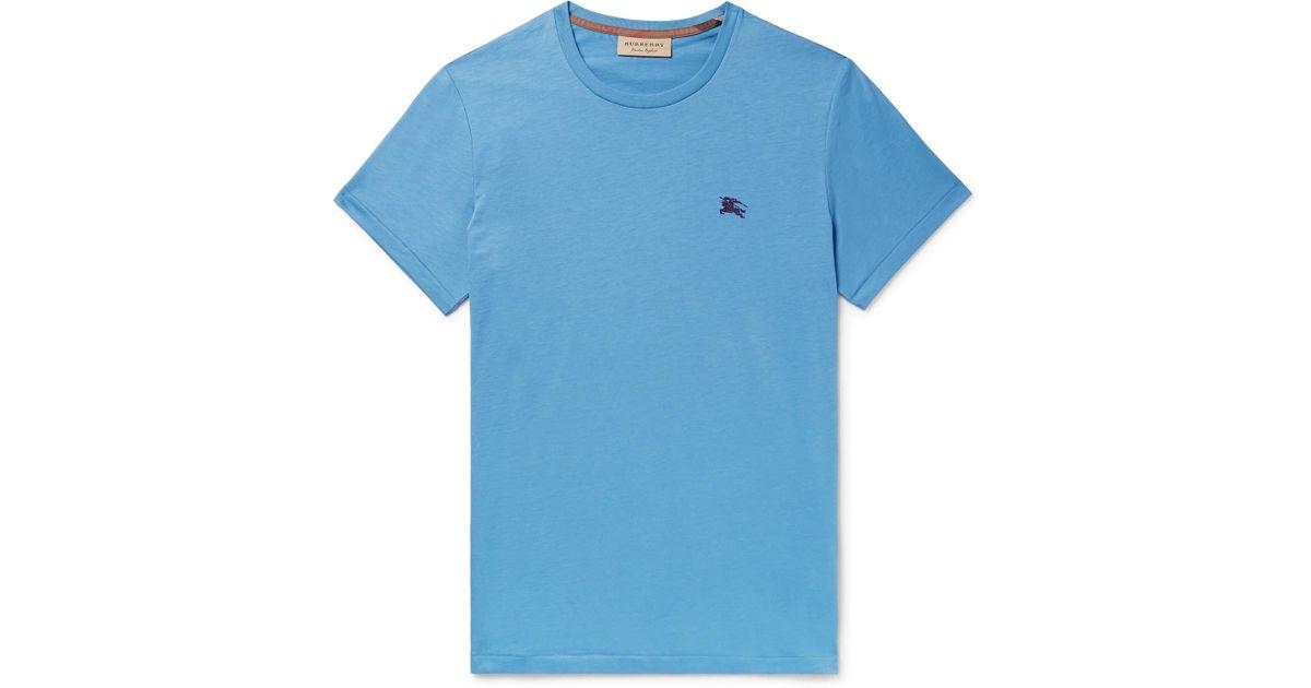 Burberry Cotton-jersey T-shirt - Light blue 2udwffDPXC