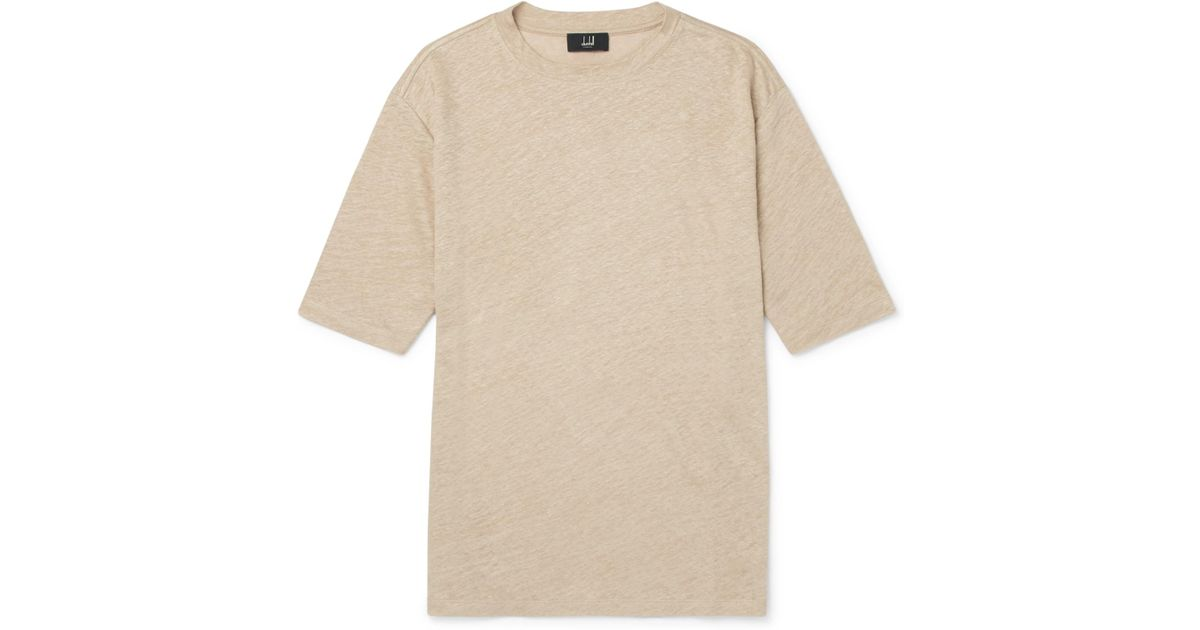Linen-jersey T-shirt Dunhill Under 70 Dollars Pick A Best Cheap Price 2018 New Online 4yBxLoFwDR