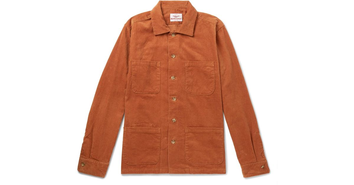 Overshirt Cotton Lyst for corduroy Brown in Battenwear Men EOq77