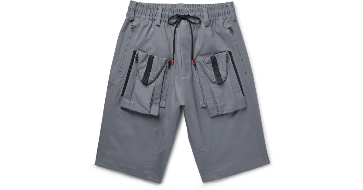 062226f9f9 Nike Lab Acg Deploy Cargo Wide-leg Stretch-cotton Shorts in Gray for Men -  Lyst