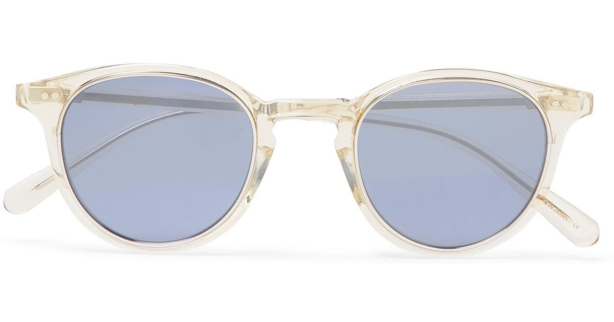 Lyst - Mr. Leight Marmont Round-frame Acetate Mirrored Sunglasses ...