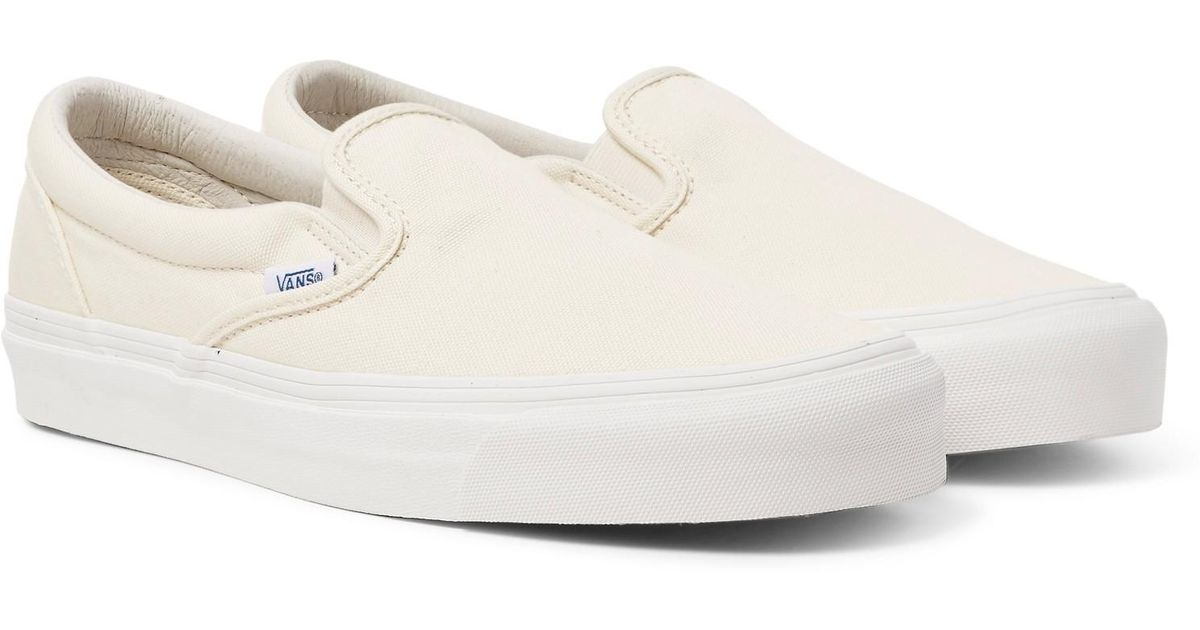 6a90f09ee5 Lyst - Vans Og Classic Lx Canvas Slip-on Sneakers in White for Men - Save  40%