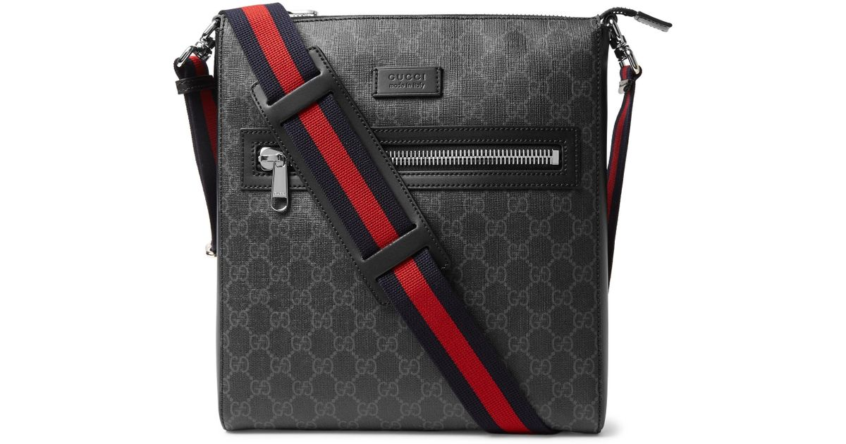 Lyst - Gucci Leather-trimmed Monogrammed Coated-canvas Messenger Bag in  Black for Men - Save 16% 1dfdec1e9a13d