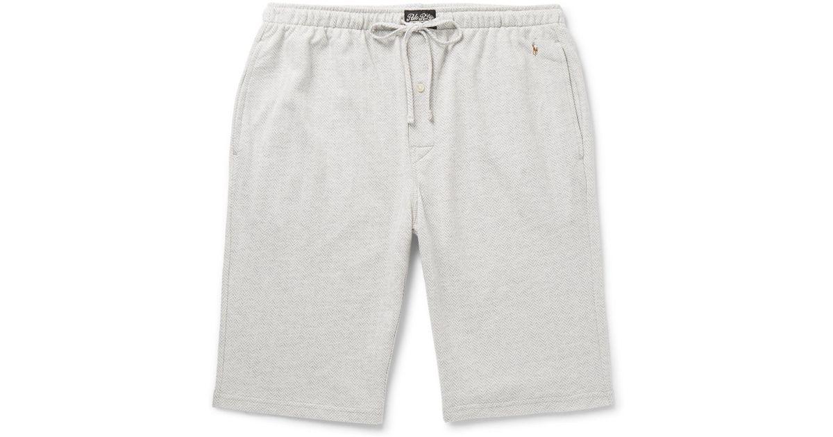 efd9b3d2515e ... where to buy polo ralph lauren andover herringbone cotton pyjama shorts  in gray for men lyst