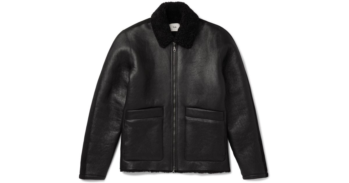 Men Black Lyst Folk For Shearling Zqv4w0nn Jacket In R6qgZ6I