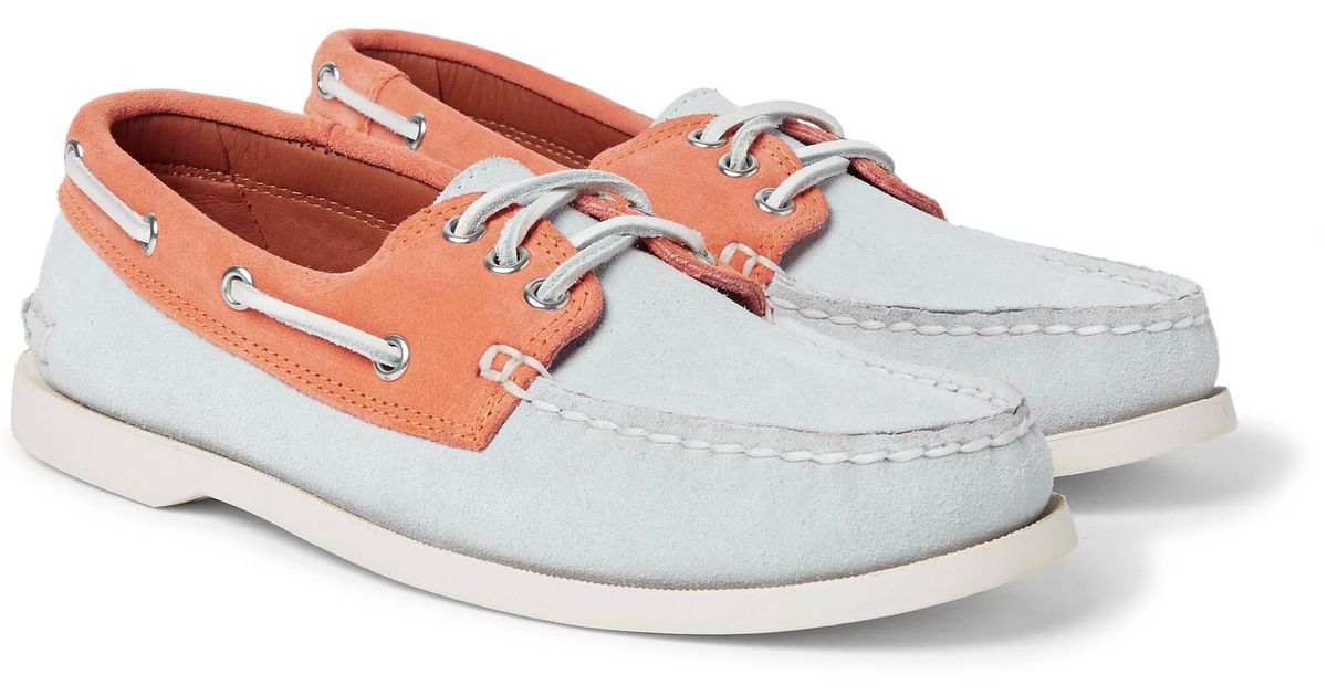 Downeast Two-tone Suede Boat Shoes Quoddy 0SJeOhP4x