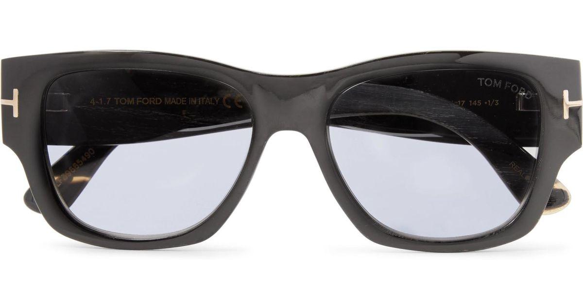 be064130e5 Lyst - Tom Ford Tom N.12 Square-frame Horn Photochromic Sunglasses in Black  for Men