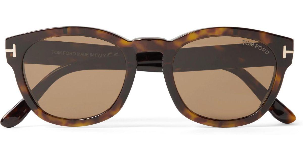 5de8758fcc7a7 Tom Ford Bryan Round-frame Tortoiseshell Acetate Sunglasses in Brown for  Men - Lyst