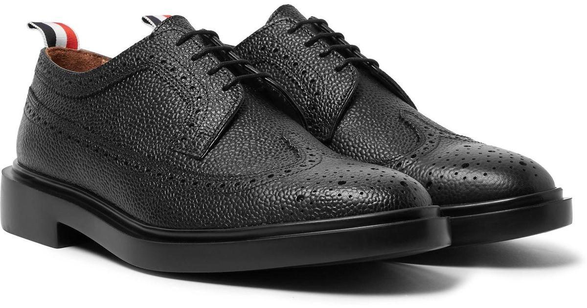 low priced bfaee dba56 thom-browne-black-Pebble-grain-Leather-Longwing-Brogues-Black.jpeg