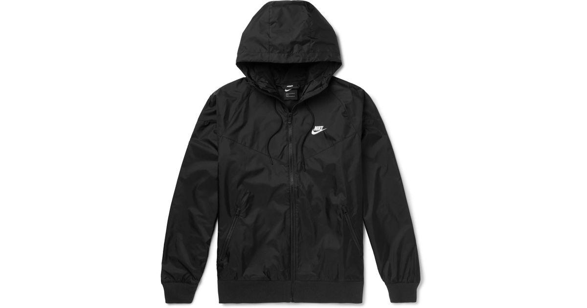 9e330e29f100 Lyst - Nike Windrunner Shell Hooded Jacket in Black for Men
