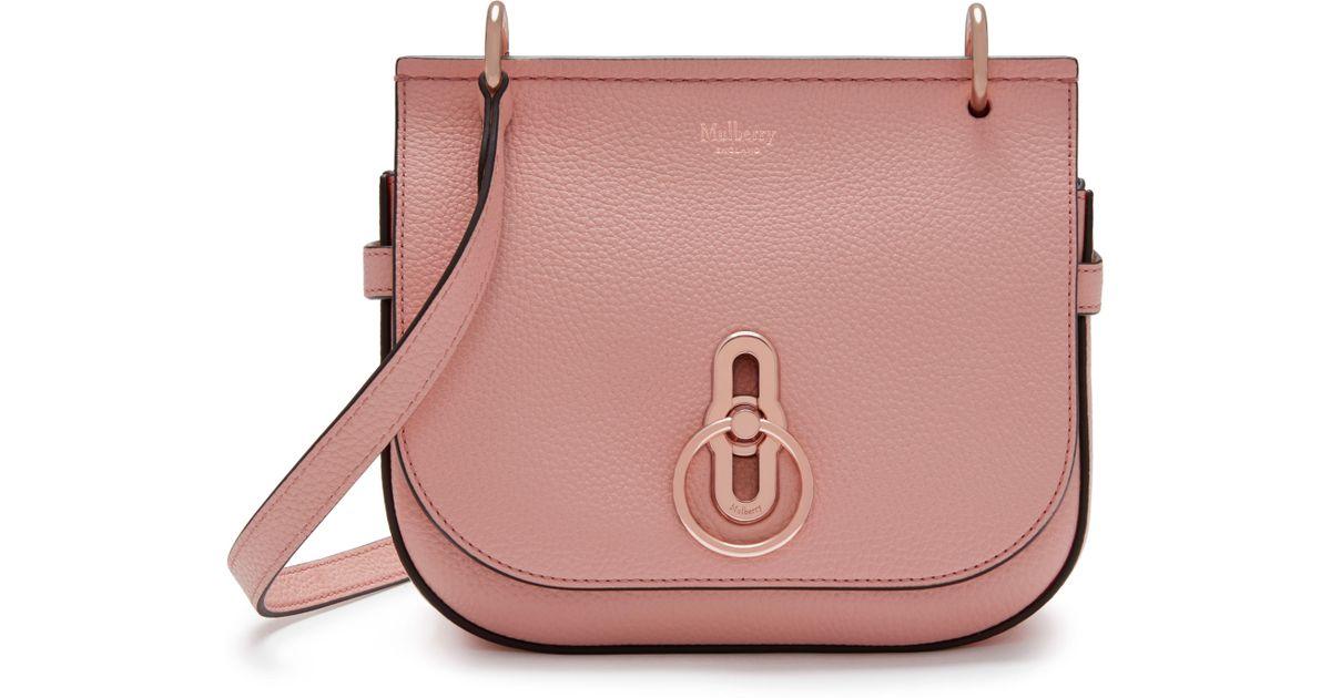 ffdbdeddac24 Lyst - Mulberry Small Amberley Satchel in Pink