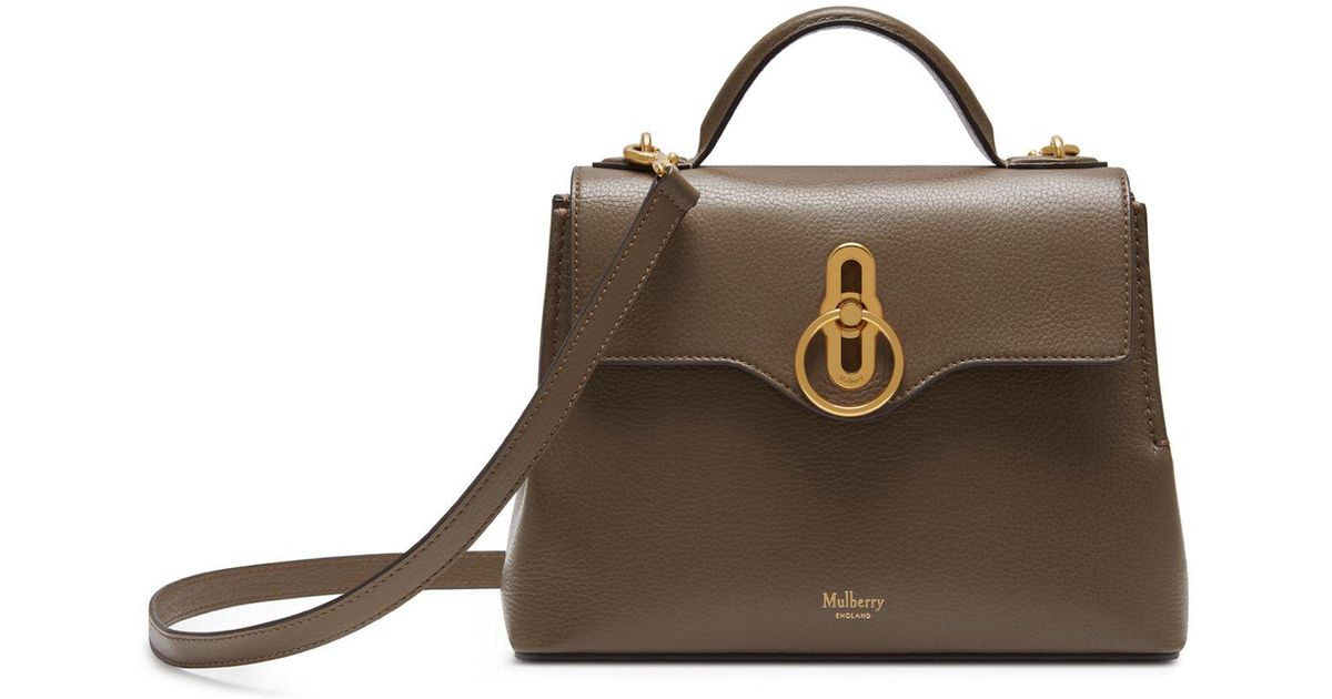 Mulberry Mini Seaton In Clay Small Classic Grain - Lyst b03bd157eda13