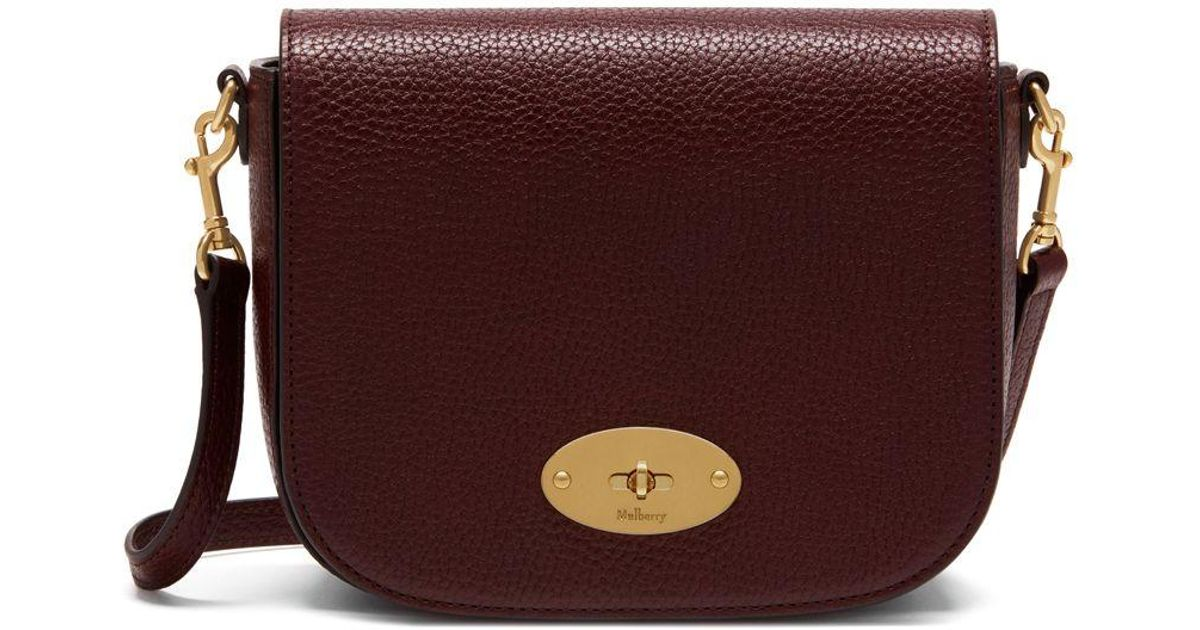 e66e1f32ace3 Lyst - Mulberry Small Darley Satchel In Oxblood Natural Grain Leather