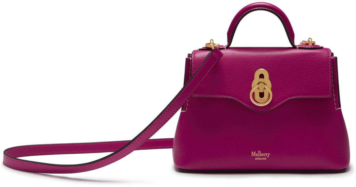 f7c38b02a343 Lyst - Mulberry Micro Seaton in Pink